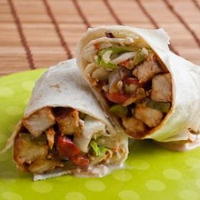 Main Course Recipe BBQ Chicken Wrap