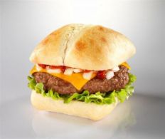 Classic Hamburger with Corriander & Tomato Salsa