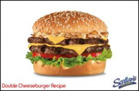 Lunch Recipe Double Cheeseburger
