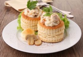 Main Course Recipe Chicken & Mushroom Vol au Vents Recipe